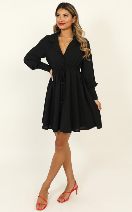 Weekly Planner Dress In Black