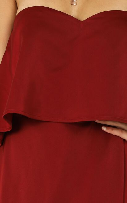 Your Voice Is Soft Like Summer Rain Dress  in wine - 14 (XL), Wine, hi-res image number null