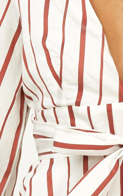 So Much To Give Top In white stripe - 16 (XXL), White, hi-res image number null