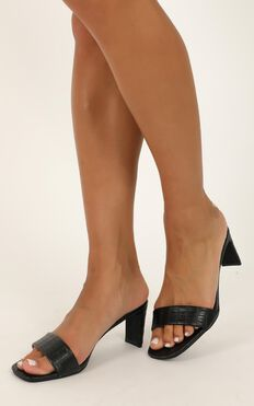Billini - Bianca Heels In Black Croc