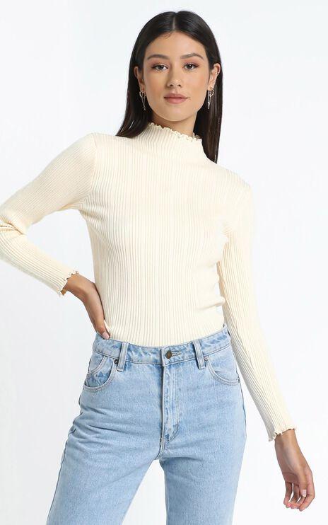 Maddox Knit Top in Cream