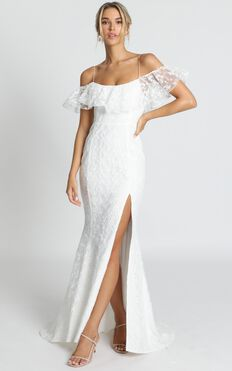 Forever Gown In White Lace