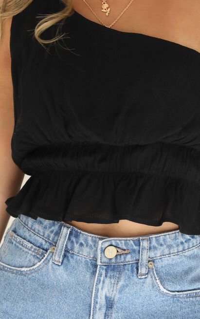 Catch My Fall top in black - 18 (XXXL), Black, hi-res image number null