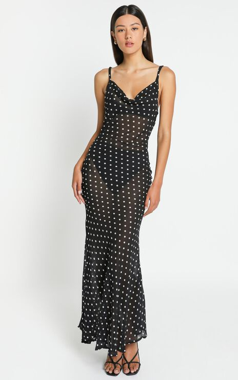 Dalton Dress in Black Spot