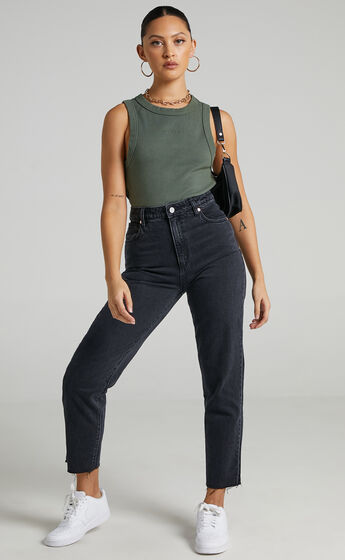 Abrand - A 94 High Slim Jean in Charo Black