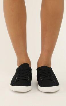 Verali - Retro Sneakers In Black Canvas
