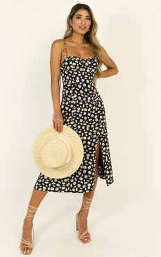 Fading Into You Dress In Black Floral