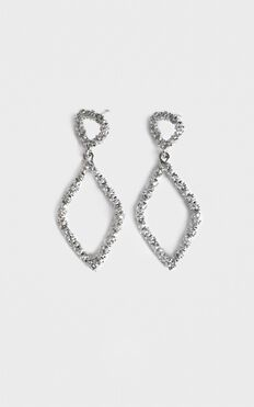 Disco Nights Sparkle Earrings In Silver