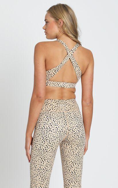 Kavala Collective Balian Cheetah Crop  - 6 (XS), Camel, hi-res image number null