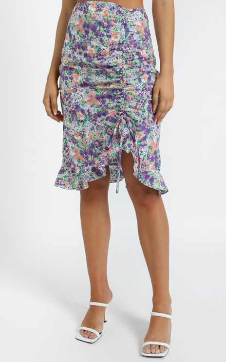 Albany Skirt in Purple Floral