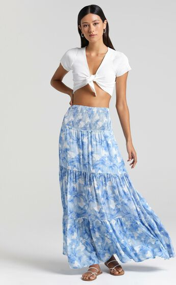 Autumn Skirt in Cloudy Floral