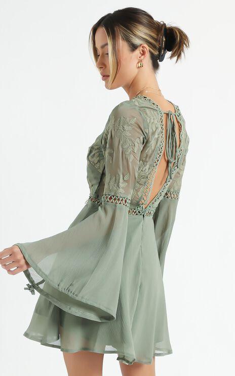 Stop Pretending dress in Olive