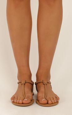 Billini - Clarita Sandals in tan reptile texture
