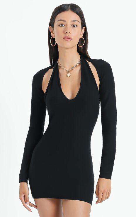 Lioness - Heavenly Sent Mini Dress in Black