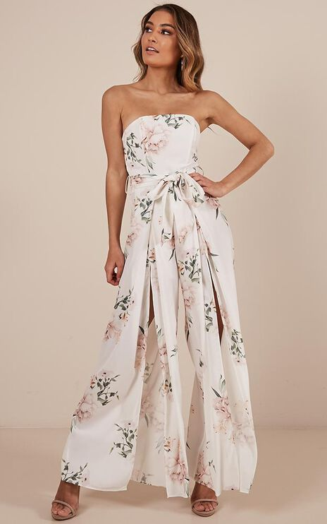 So Kiss Me Jumpsuit In White