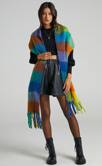 Lindsey Scarf in Bright Multi Check