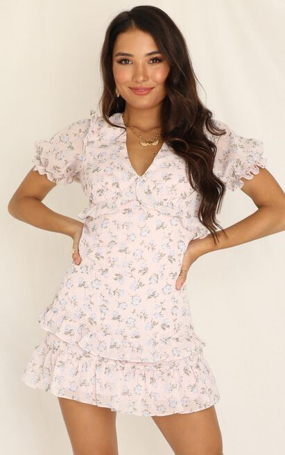 Strawberry Kisses dress in pink floral - 6 (XS), Pink, hi-res image number null
