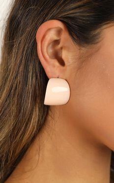 All Night Long Earrings In Peach