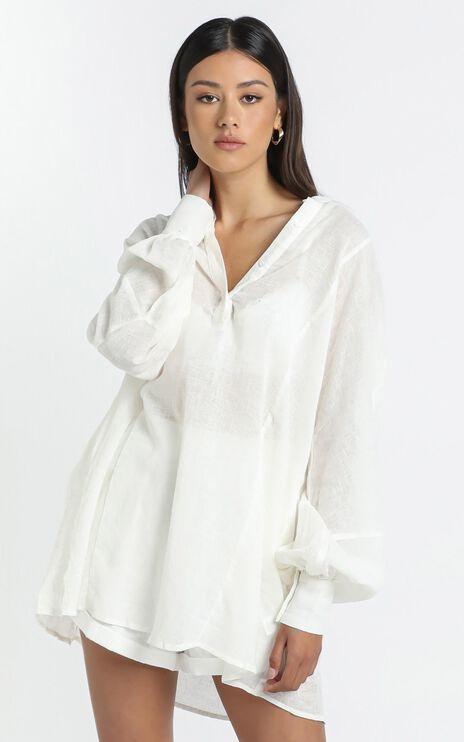 Dawn Shirt Dress in White