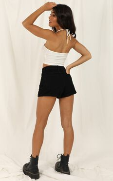 Abrand - A High Relaxed Denim Shorts In Overdyed Black
