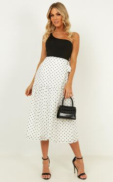 Things On My Mind Skirt In Black Spot