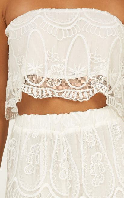 Spirit Dancer Two Piece Set in white lace - 12 (L), White, hi-res image number null