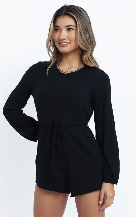 Aleandra Playsuit in Black