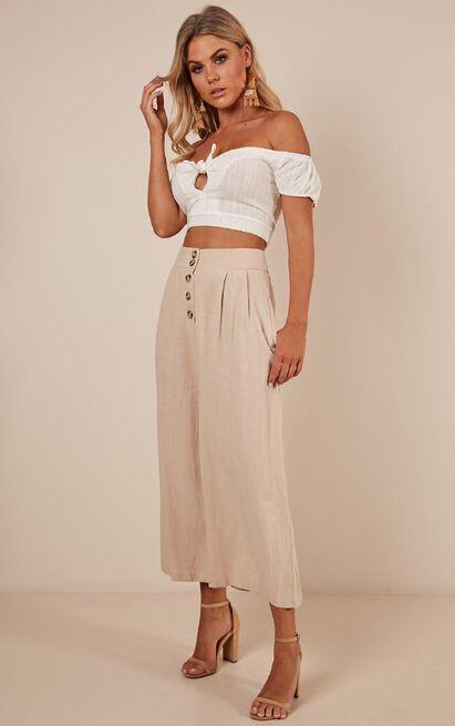 On Your Feet pants in beige Linen Look - 14 (XL), Beige, hi-res image number null