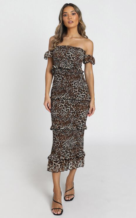 Irma Dress in Leopard