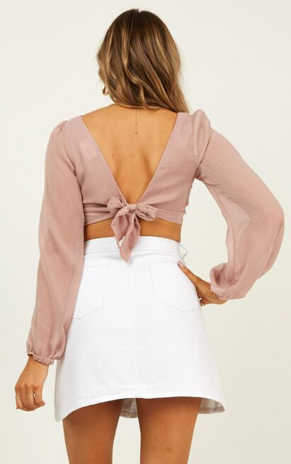 Crash And Burn top in blush - 20 (XXXXL), Blush, hi-res image number null