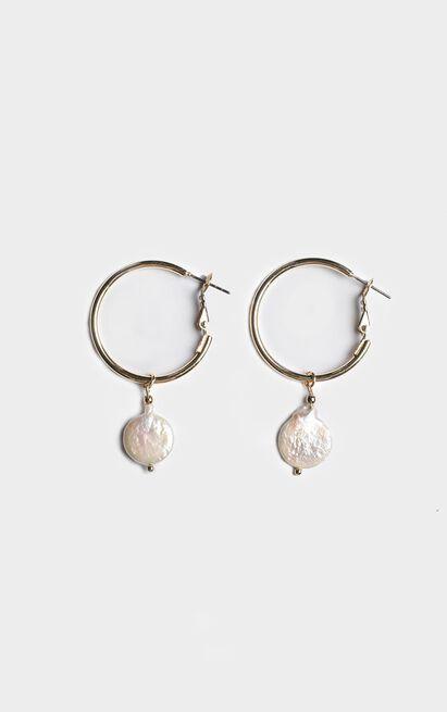 Minc Collections - Ocean Hoop Earrings In Gold, , hi-res image number null
