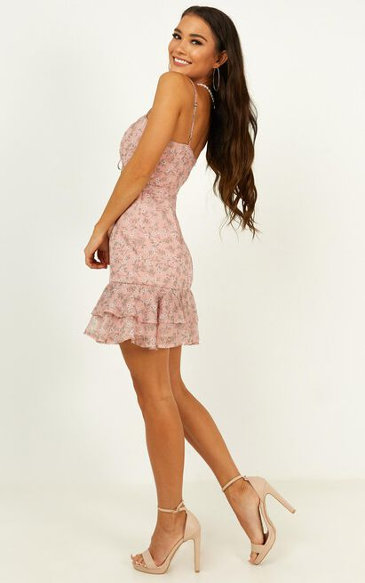 Untold Stories Dress in blush floral - 20 (XXXXL), Blush, hi-res image number null