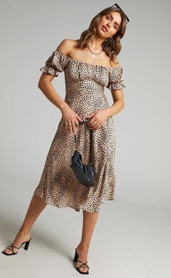 Kordyn Midi Dress in Leopard Print