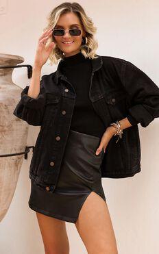 Gambit Denim Jacket In Black