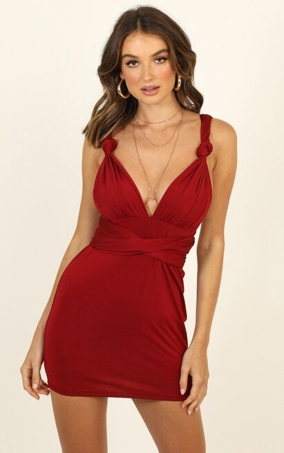 We Wont Stop Multiway Dress in wine - 14 (XL), Wine, hi-res image number null