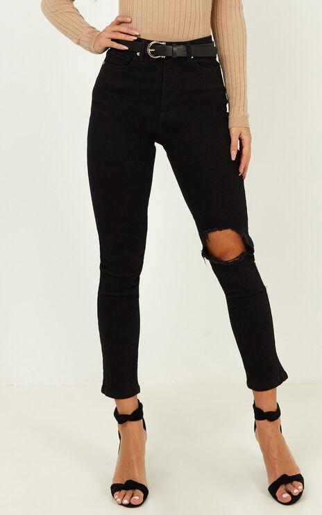 Bobbi Jeans In Washed Black Denim