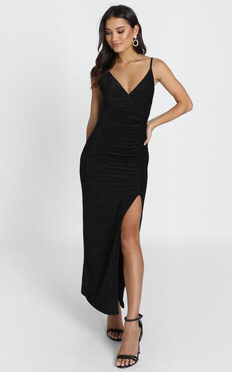 Susannah Dress In Black Shimmer