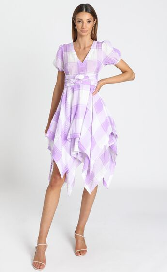 Ola Dress In Lavender Check