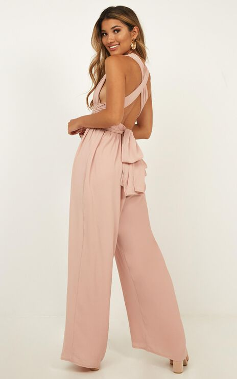 Girls Life Jumpsuit In Blush