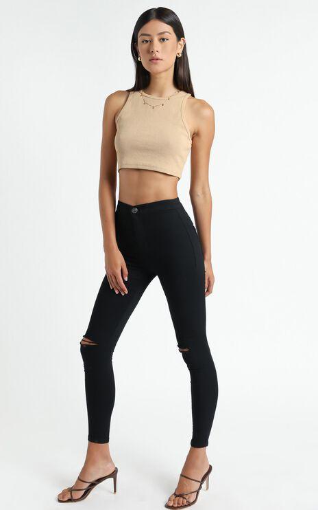 Bella Skinny Jeans in Black Denim