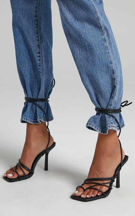 Public Desire - Haute Heels in Black PU