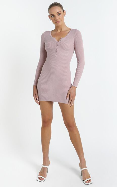 Amaris Dress in Dusty Pink