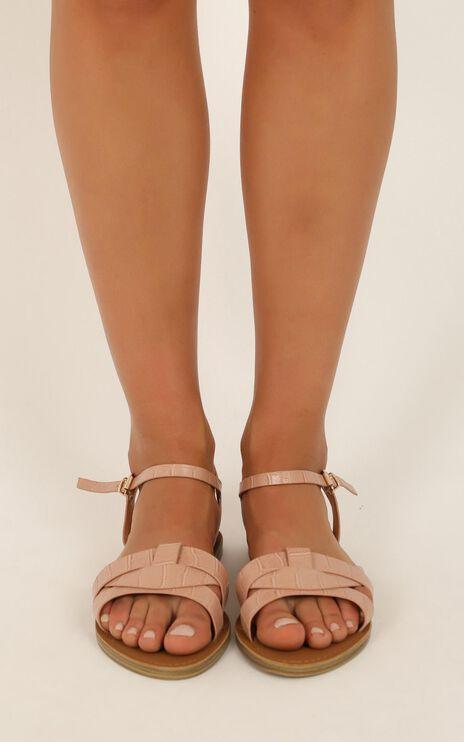 Verali - Toula Sandals In Blush Croc Smooth