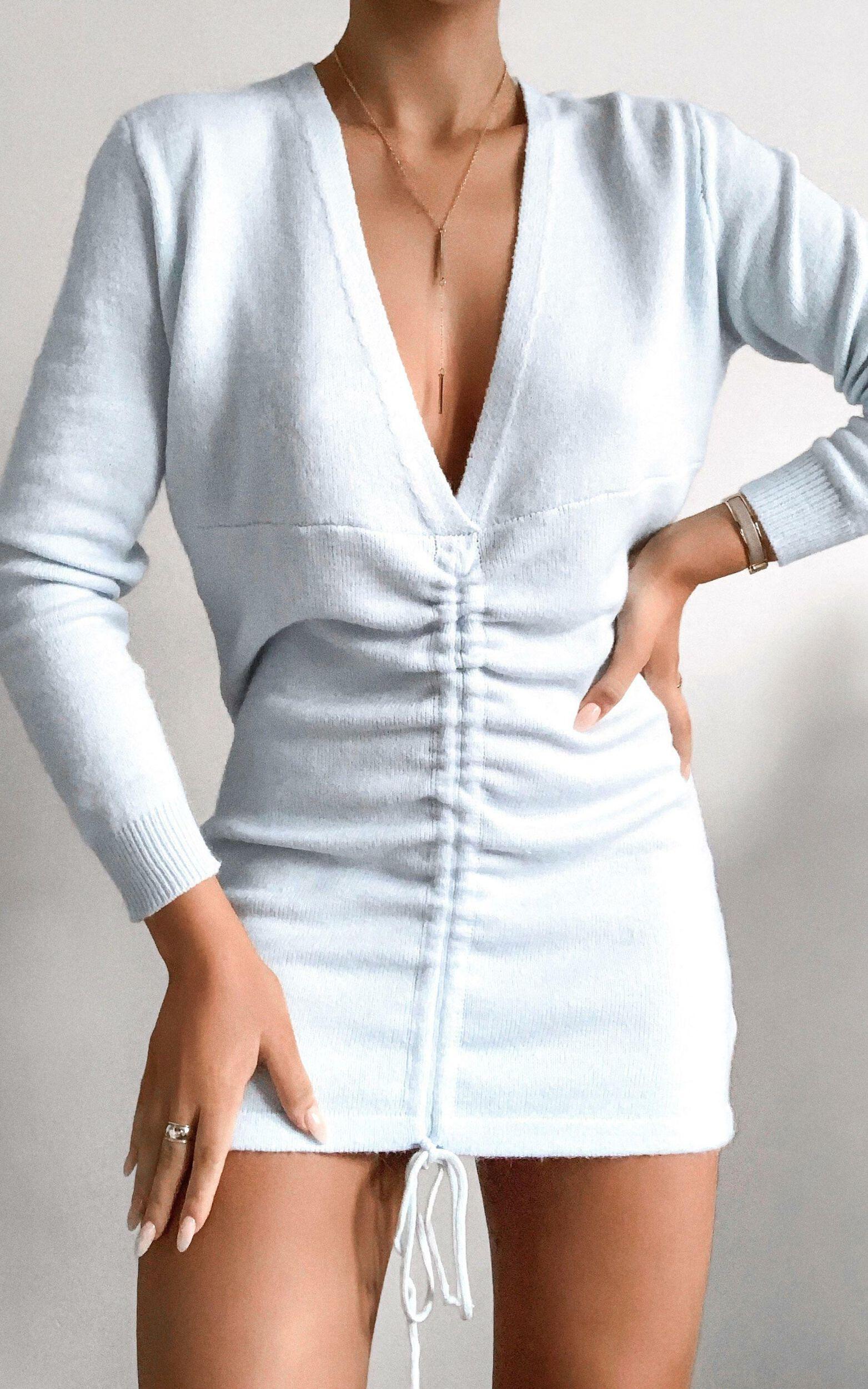 Yasmina Dress in Pale Blue - 12 (L), BLU1, super-hi-res image number null