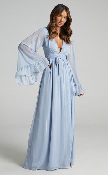 Dangerous Woman Maxi Dress in Light Blue