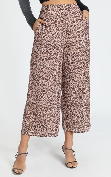 Elisa Pants in Leopard Print