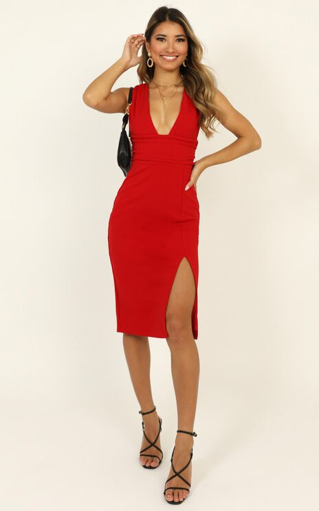 Dont Catch Feelings Dress In Red