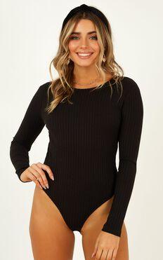 La Moda Bodysuit In Black