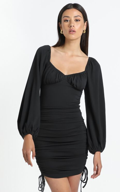 Harrington Dress in Black
