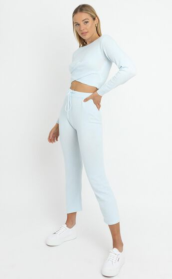 Deanna Knit Pants in Baby Blue